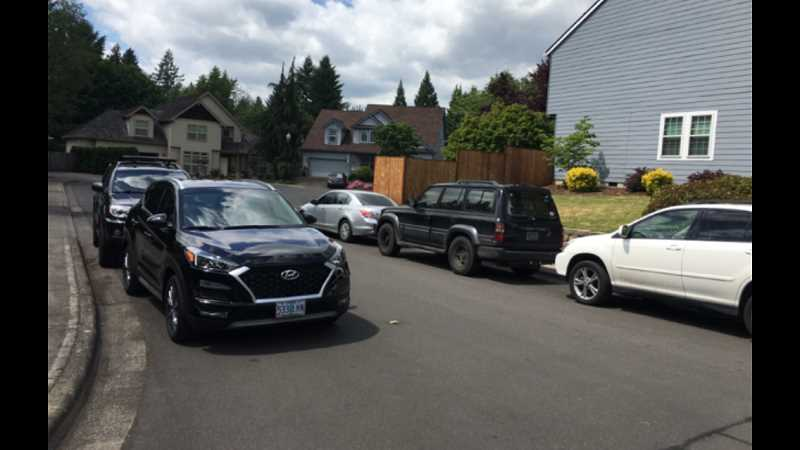 COURTESY PHOTO - Residents of a cul-de-sac near Wilsonville High complain of students overcrowding streets with cars and parking illegally.