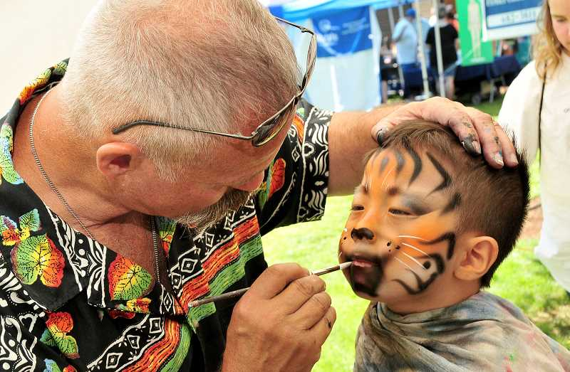 PMG FILE PHOTO - Sahbin Hong gets a fancy face-painting at the 2018 Fun in the Park event.