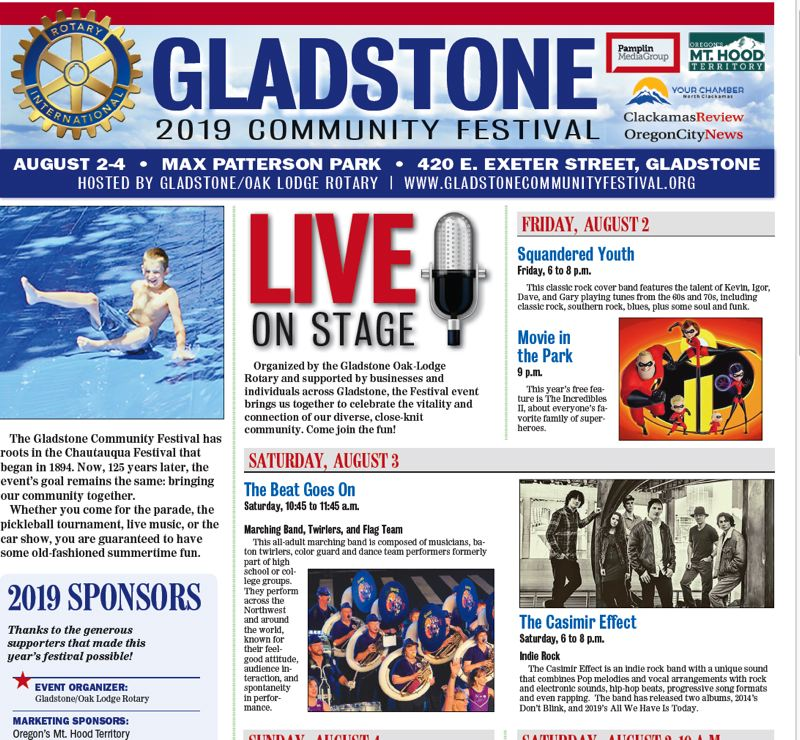 (Image is Clickable Link) Gladstone Community Festival 2019