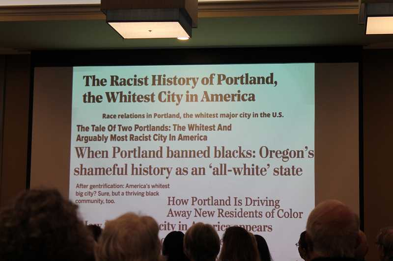 PMG PHOTO: AVA EUCKER - Imarisha shares a slideshow that helps uncover the hidden racism of Oregon's past and present