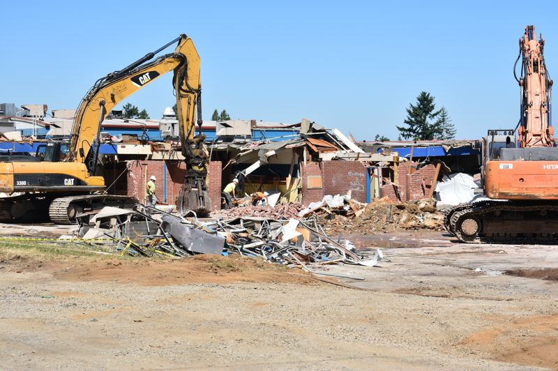 PMG PHOTO: TERESA CARSON - These are the last classrooms to be demolished at North Gresham Elementary School.