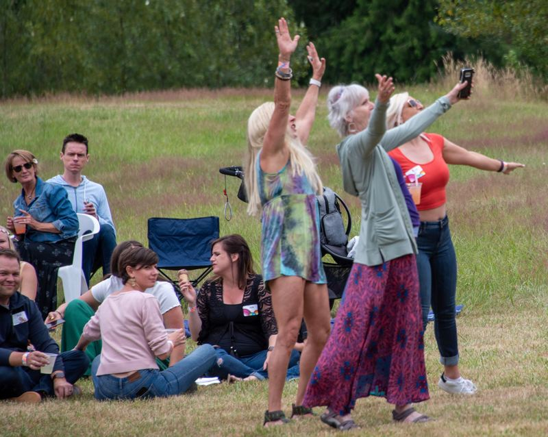 COURTESY PHOTO - Dancers enjoy the music at Bull Frog Lake Fest II on July 5, in the Redland area east of Oregon City.