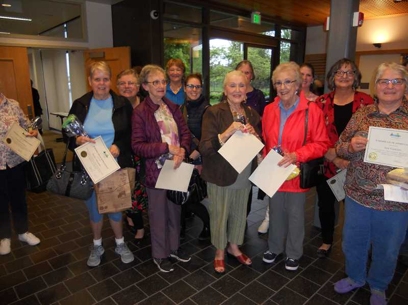 GAZETTE PHOTO: SCOTT KEITH - Some of the many volunteers for the City of Sherwood were honored recently at a Sherwood City Council meeting.