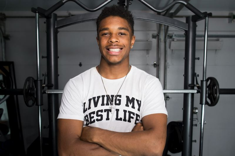 PMG PHOTO: JAIME VALDEZ      - Sprint star Micah Williams has spent the summer healing and gearing up for his senior year at Benson High and on the track around the nation.