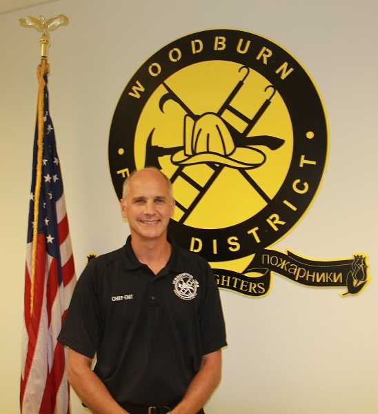 PMG PHOTO: JUSTIN MUCH - Woodburn Fire Districts new Division Chief of Training and Operations Scott Heesacker, of Newberg, spent 28 years working for Portland Fire & Rescue.