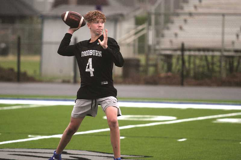 PMG PHOTO: PHIL HAWKINS - Junior Jordan Blem (pictured) and sophomore Datsun Corpuz will battle for the starting quarterback position for the Bulldogs this fall.