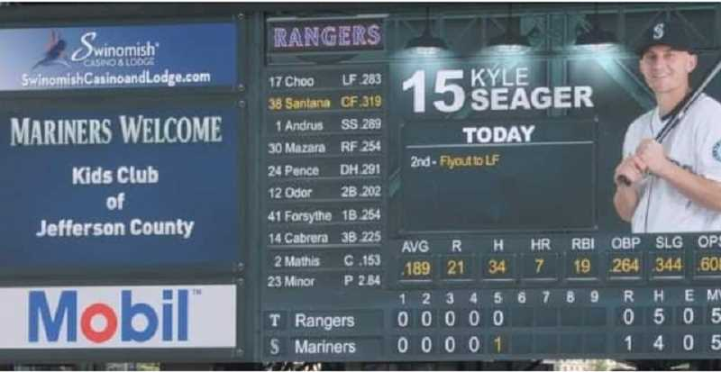 SUBMITTED PHOTO - Kids Club of Jefferson County recieved a shoutout from the Seattle Mariners, welcoming them to the game.