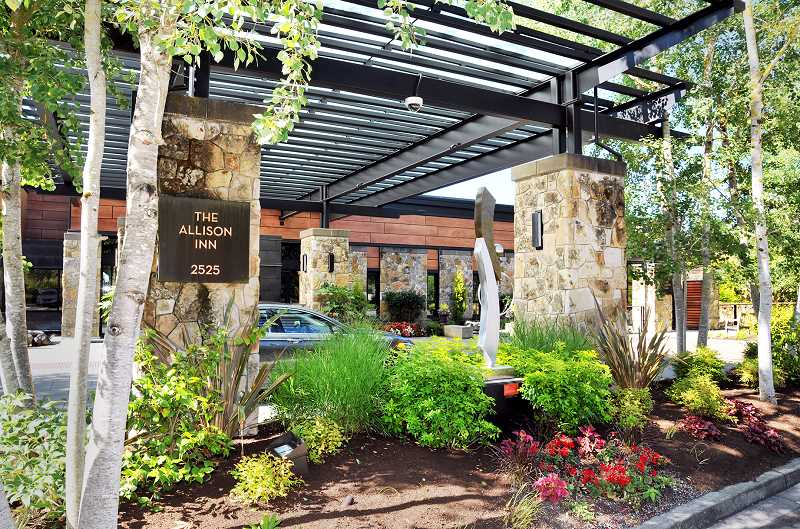 GRAPHIC PHOTO: GARY ALLEN - The Allison Inn and Spa in Newberg has been nominated for USA Today magazine's top 10 listings for best wine country hotel and best eco-friendly hotel.