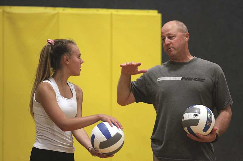 PMG PHOTO: PHIL HAWKINS - Bodine is excited to work with assistant coach Tim Netter, whose background as a volleyball player will help fill the gaps of Bodine's knowledge of the sport.