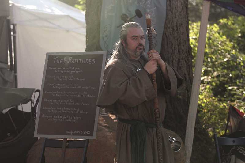 COURTESY PHOTO: BRANWYN DONOVAN - Despite the look on my face, I swear I was having fun at the Canterbury Renaissance Faire.