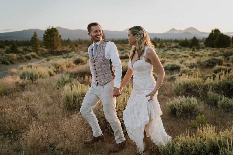 COURTESY PHOTO  - Cody Gillenwater and Cecily Northrup were married July 13 at Rock Springs Ranch in Bend, Ore. They make their home in Seattle.