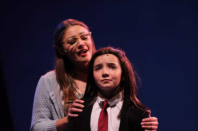 COURTESY PHOTO: TOM RUST  - Jorja Reed as Matilda in Lakewood Theatre Companys Matilda, The Musical with Brooke Moltrum as Miss Honey,running through Aug. 18 at Lakewood Center for the Arts.