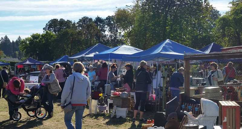 COURTESY PHOTO - The Vintage Outdoor Markets at Wade Creek House Antiques typically draw a crowd. The next event is scheduled from 8 a.m. to 5 p.m. Saturday, Aug. 10.