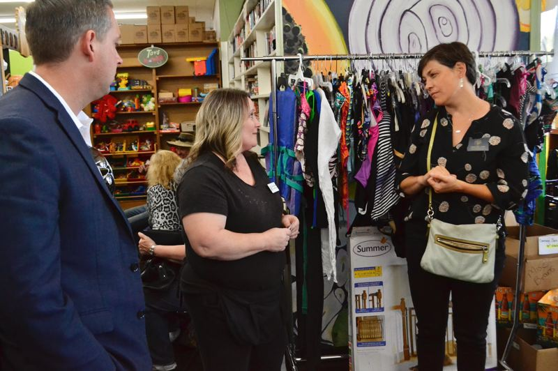 PMG PHOTO: BRITTANY ALLEN - Rep. Anna Williams was 'impressed' to learn on July 24 about the services offered at the Sandy Community Action Center.