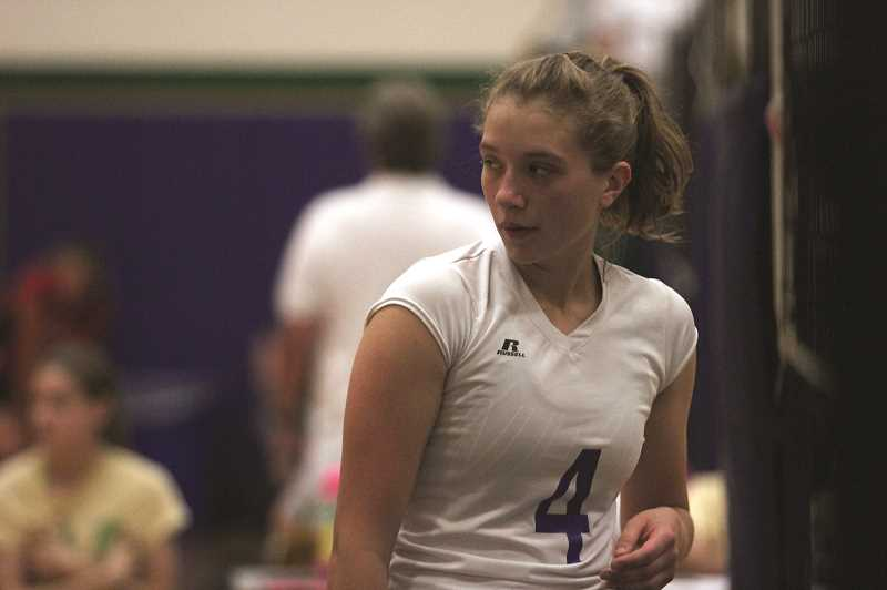 PMG PHOTO: PHIL HAWKINS - St. Paul senior middle blocker Erin Counts will serve as the first line of defense for the Buckaroos next season.