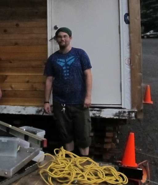 Bob Brimmer is one of the 'houseless' workers from Hazelnut Grove in North Portand rebuilding abandoned vehicles into tiny houses.