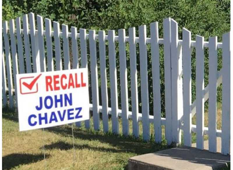SUBMITTED PHOTO - No one seems to be 'on the fence' regarding the recall petition for Metolius Mayor John Chavez. Various legal issues, and the fact that he didn't show up for jail time, have inspired a recall effort.
