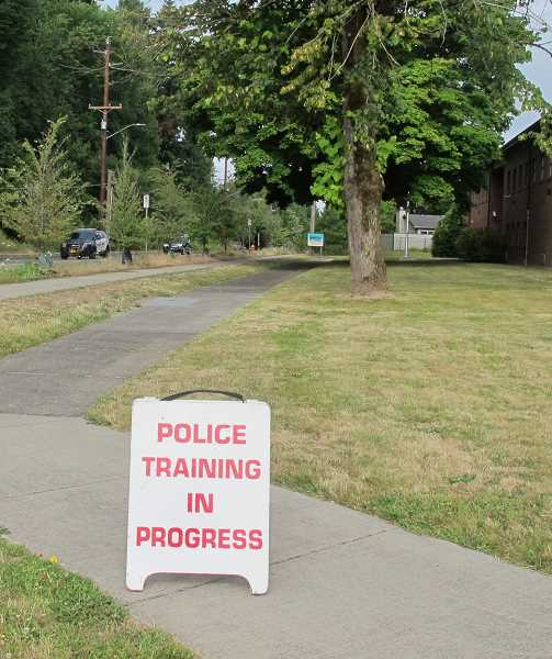 What was once a US Army Reserve Training Center will, at least for the next few months, be a center for Portland Police Bureau training.