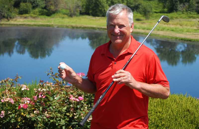PMG PHOTO: DEREK WILEY - Canby's Carl McKnight made his first hole-in-one on Monday, July 29 at Florence Golf Links.
