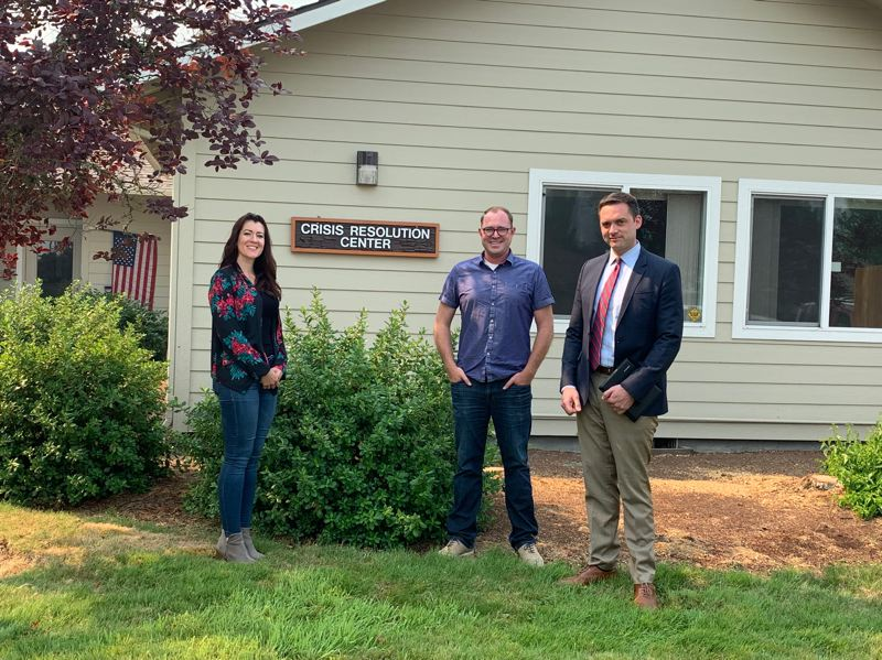 COURTESY PHOTO: ALEX TARDIF - Columbia Community Mental Health Executive Director Julia Jackson, Columbia County Commissioner Alex Tardif and Columbia County District Attorney Jeff Auxier visited crisis respite centers around the state earlier this week.