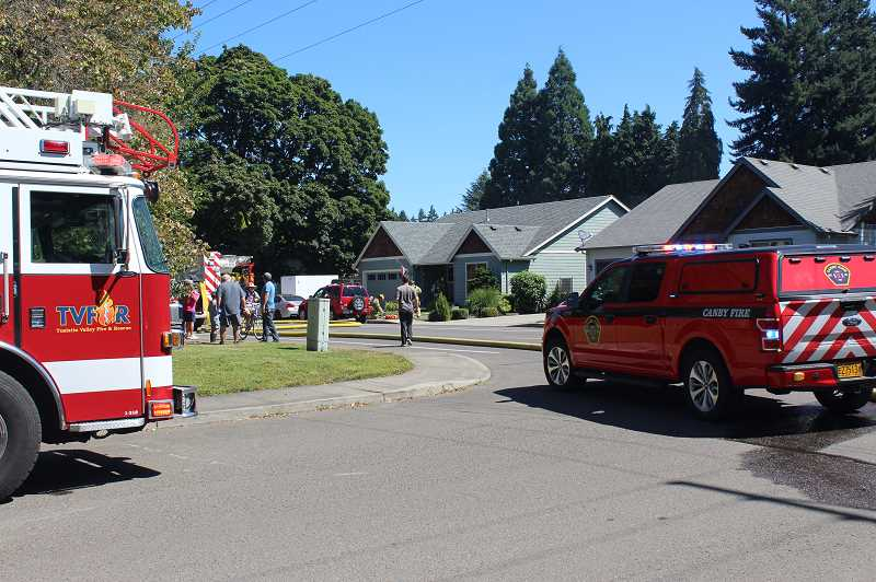 PMG PHOTO: KRISTEN WOHLERS - The Aug. 1 house fire was located at 920 N. Ivy St. in Canby between North Ninth Avenue and North 10th Avenue.