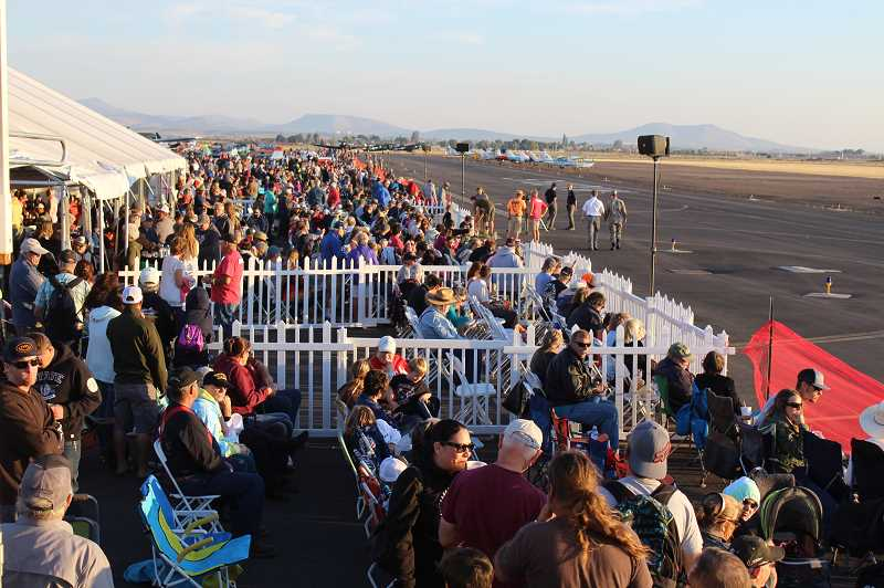 HOLLY M. GILL/MADRAS PIONEER - The Airshow of the Cascades is looking for volunteers for this year's event, which will run from Aug. 23-24. Volunteers help the event, shown here in 2018, run smoothly.