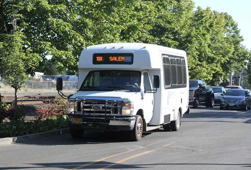 PMG PHOTO: JUSTIN MUCH - The Woodburn/Salem Express Cherriots route, 10X, will be adding additional daily stops and Saturday service to Woodburn, Gervais and Brooks, beginning Sept. 3.