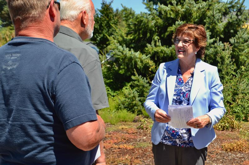 PMG PHOTO: BRITTANY ALLEN - Tootie Smith served on the Clackamas County Commission for four years, from 2013-2017, and announced her intention to run against Chairman Jim Bernard in Boring on Aug. 1.