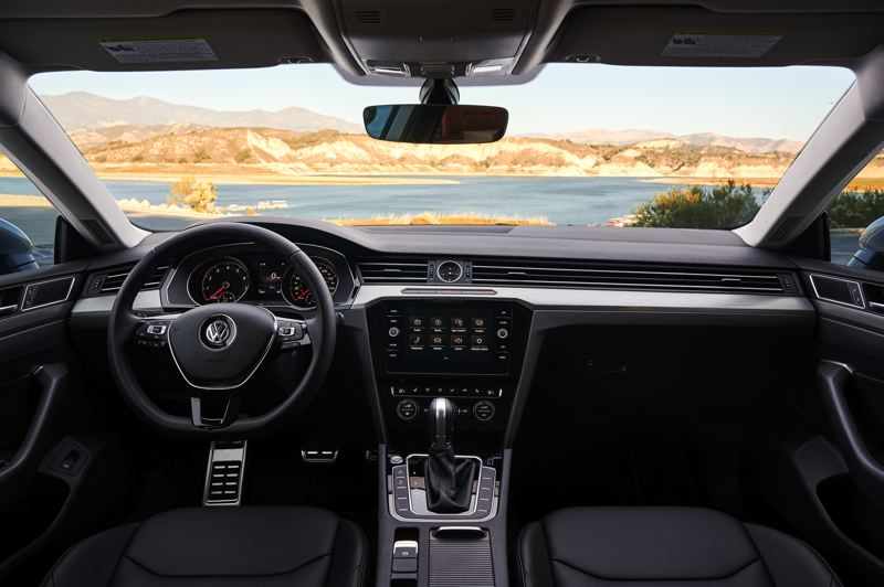 VOLKSWAGEN OF AMERICA - The interior of the 2019 Volkswagen Arteon is smartly designed, with clearn lines, a well-integrated infotainment screen, and a surprising amount of interiour room for a midsize car.