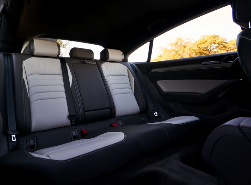 VOLKSWAGEN OF AMERICA - The rear seat of the 2019 Volkswagen Arteon has enough room to carry three adults in comfort (SEL Premium model shown).