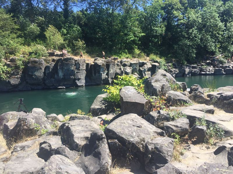 COURTESY PHOTO: CLACKAMAS COUNTY SHERIFFS OFFICE - A person was pulled Aug. 1 from the Clackamas River at High Rocks Park in Gladstone.