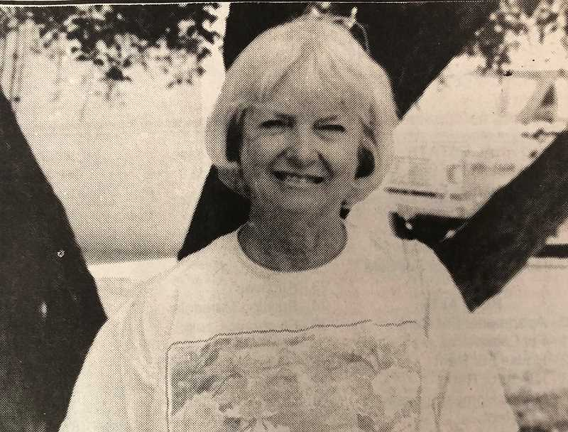 CENTRAL OREGONIAN - August 4, 1994: FLYING HIGH – Patty Burrell, who took her first flying class about 10 years ago, will take her love of piloting to new heights through the Palms to Pines Air Race.  She and co-pilot Donna Vasko will compete with about 60 other contestants in the 25th annual women's race on August 5 in Santa Monica, California.
