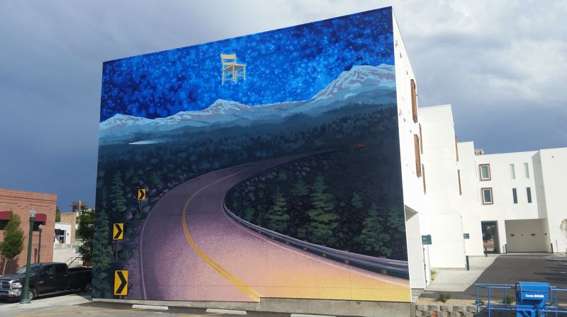 COURTESY PHOTO - Portland artist David Carmack Lewis has been honored by Parade magazine for his mural painting in Boise.