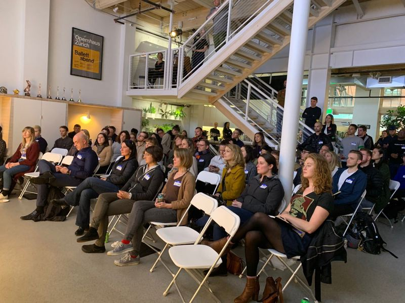 PMG: JOSEPH GALLIVAN - R/GA announced the first six companies that will take part in the Oregon Enterprise Blockchain Venture Studio (OEBVS). Here is the inside of R/GA in the PEarl District in April 2019 when it hosted a talked called Designing for Inclusion.
