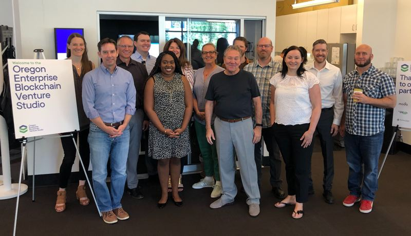 COURTESY: OREGON ENTERPRISE BLOCKCHAIN VENTURE STUDIO (OEBVS) - Founders from Brave, Chronicled, Patientory, Concord, qiibee and Everest are the inaugural class at the Oregon Enterprise Blockchain Venture Studio (OEBVS). The studio and its partners are betting that blockchain – a way of securely tracking files and minimizing risk across all types of computer networks -  will become the new standard in business.