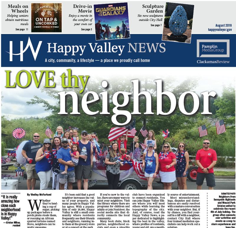 (Image is Clickable Link) Happy Valley News August 2019