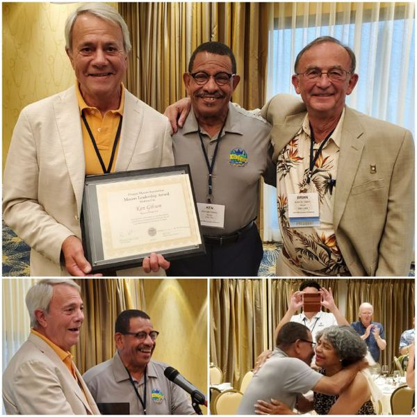 COURTESY PHOTOS: MIKE CULLY - King City Mayor Ken Gibson (center) was one of three Oregon mayors to receive the Mayors Leadership Award at an Aug. 3 conference.
