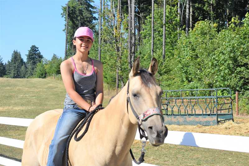 PMG PHOTO: EMILY LINDSTRAND - Winter Palmateer and her horse Missy will compete in the Oregon State Fair later this month.