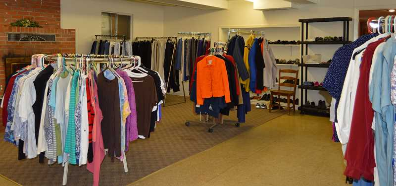 PMG PHOTO: CINDY FAMA - Colton Clothes Closet is open every Tuesday from 11 a.m. to 2 p.m.