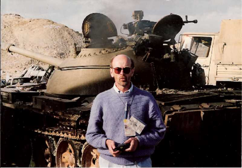 COURTESY PHOTO - Quent Neufeld covering the Gulf War for CBS.