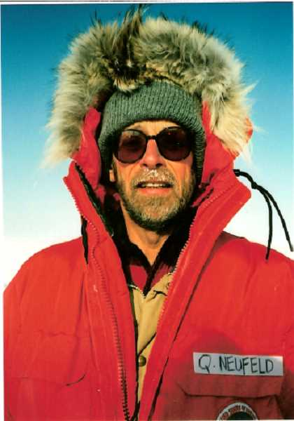 COURTESY PHOTO - Quent Neufeld visiting Antarctica during an assignment in the 1990s.