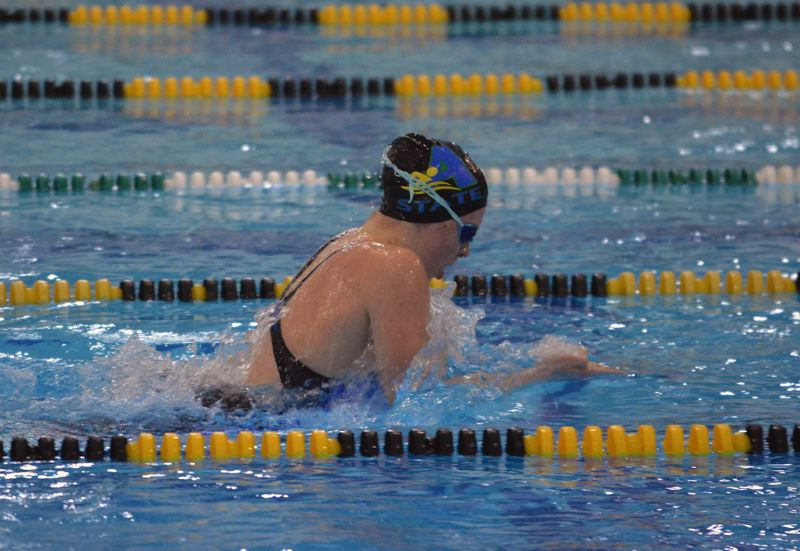 TIMES FILE PHOTO - Aloha rising senior Kaitlyn Dobler won her second straight Prep Swimmer of the Year award after taking home two more Class 6A state championships.