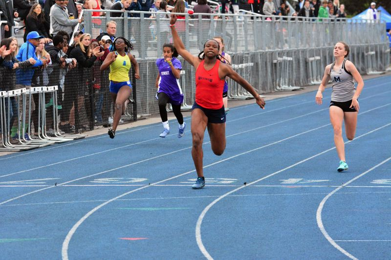 TIMES FILE PHOTO - Westview rising senior Colleen Uzoekwe won three Class 6A state championships including the 100 and 200 meters.