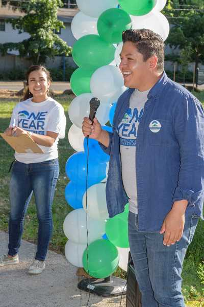 COURTESY PHOTO: ANDIE PETKUS - Gresham Councilor Eddy Morales spoke during an East County Rising event - a group he formed to break down barriers keeping people out of politics.