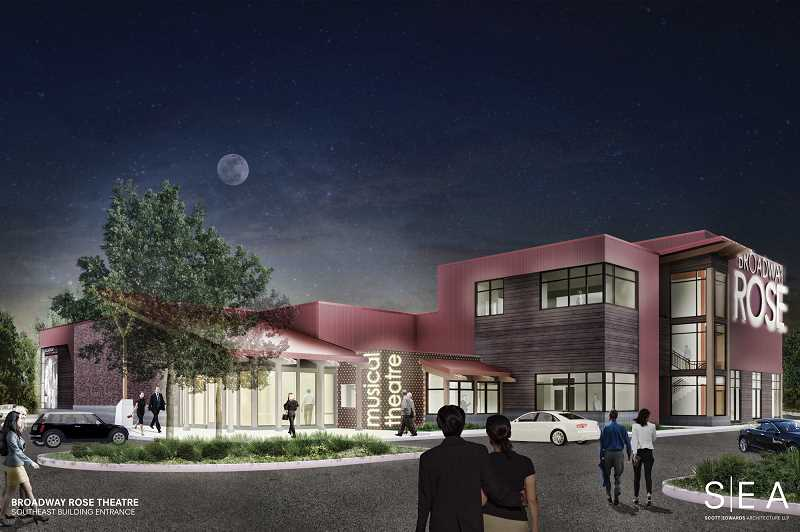 COURTESY PHOTO - Proposed expansion of the Broadway Rose New Stage