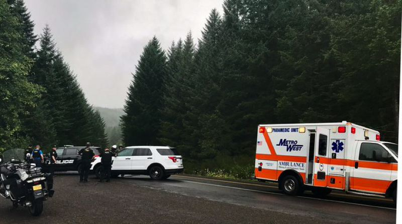 COURTESY PHOTO: WASHINGTON COUNTY SHERIFF'S OFFICE - Two Washington County sheriff's deputies were shot while searching for a burglary suspect in the woods near Henry Hagg Lake on Thursday, Aug. 8, the Sheriff's Office said. Both the deputies and the suspect received non-fatal gunshot wounds, although the injuries of one deputy were described Thursday evening as serious.