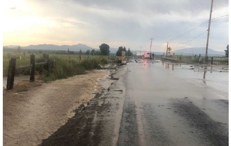 CROOK COUNTY SHERIFF'S OFFICE - Flooding submerged multiple Powell Butte roads.