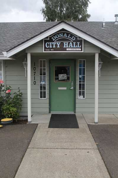 PMG PHOTO: JUSTIN MUCH - Donald, Oregon City Hall.