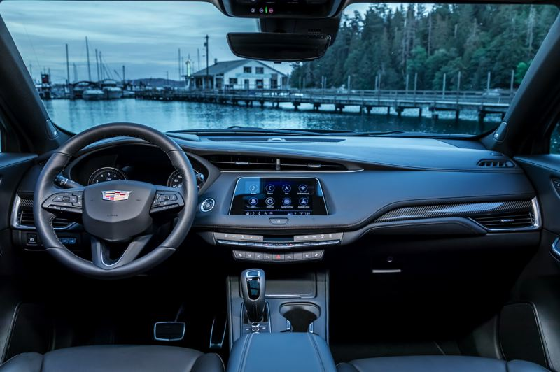 COURTESY CADILLAC - The interior of the 2019 Cadillac XT4 features a contemporary design, quality materials, and the availability of practically every advanced automotive technology.