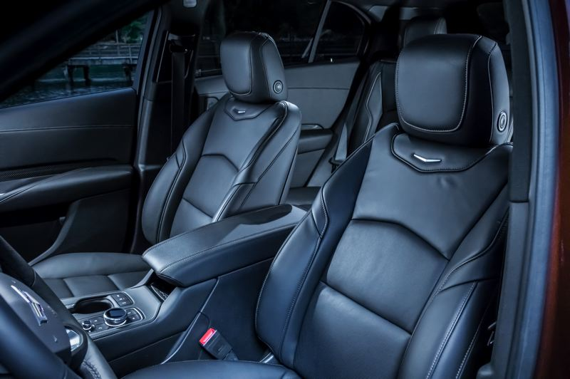 COURTESY CADILLAC - The front seats in the 2019 Cadillac XT4 are comfortable and supportive enough for long trips.